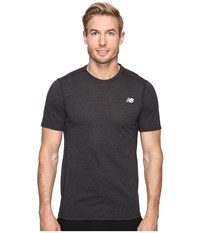 New Balance Pindot Flux Short Sleeve Top Black Men's Short Sleeve Pullover