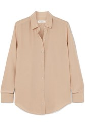Equipment Essential Silk Crepe De Chine Shirt Beige