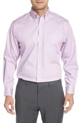 Nordstrom Big And Tall Shop Traditional Fit Non Iron Solid Dress Shirt Lavender Spray