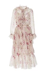 Zimmermann Winsome Ruffled Midi Dress Floral