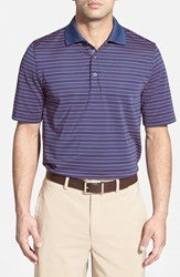 Men's Bobby Jones 'Xh20 Pencil Stripe' Regular Fit Four Way Stretch Golf Polo Classic Blue