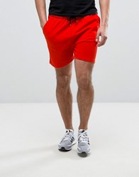 Asos Jersey Shorts In Red Red