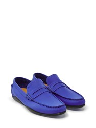Harry's Of London Basel Tech Leather Cobalt Blue Loafers