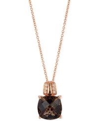 Le Vian Chocolate Quartz 3 1 4 Ct. T.W. And Diamond Accent Pendant Necklace In 14K Rose Gold