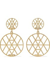 Grace Lee Petite Geo Disc 14 Karat Gold Earrings One Size