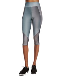 Elie Tahari James High Waist Micro Mesh Sport Leggings Multicolor Women's Multi Colors