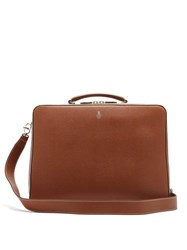 Mark Cross Baker Palmellato Leather Briefcase Tan