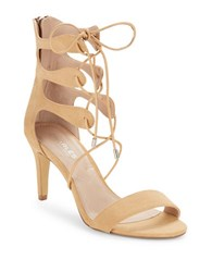 Charles By Charles David Zone Strappy Mid Heel Sandals Nude