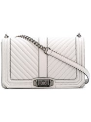 Rebecca Minkoff Chevron Quilted Love Crossbody Bag Grey