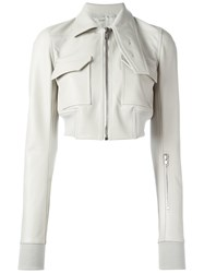 Rick Owens Cropped Jacket Nude Neutrals