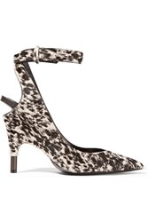 Tom Ford Printed Calf Hair Pumps Off White Leopard Print