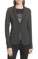 Majestic Filatures One Button Stretch Blazer Anthracite Chine