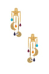 Mercedes Salazar Estrella Magica De Arcoiris Earrings Metallic Gold