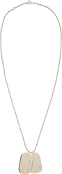 A.P.C. Silver Military Dog Tag Necklace