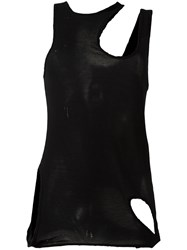 Unravel Project Distressed Cut Out Tank Black