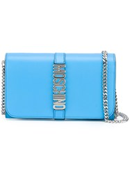 Moschino Letters Clutch Blue