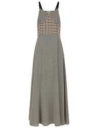 Isa Arfen Coco Chess Long Grace Dress Brown