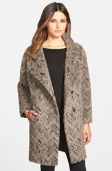 Women's Trina Turk 'Madison' Textured Wedge Coat