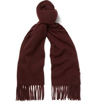 Acne Studios Canada Narrow Virgin Wool Scarf Red