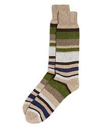 Bloomingdale's The Men's Store At Huntington Stripe Cashmere Blend Socks In Gift Box Taupe