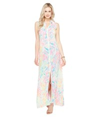 Lilly Pulitzer Ezra Maxi Beach Dress Multi Sparkling Sands Women's Dress