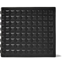 Balenciaga Studded Leather Billfold Wallet Black