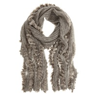 Mint Velvet Faux Fur Scarf Grey