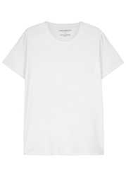 Emporio Armani White Cotton T Shirts Three Pack