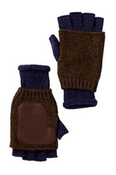 Ben Sherman Knit Fingerless Gloves Blue
