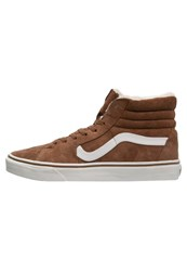 Vans Sk8 Hightop Trainers Monks Robe Blanc Brown