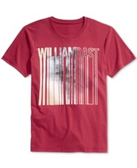 William Rast Men's Graphic Print T Shirt Chili