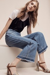 Anthropologie Ag Yvette High Rise Crop Jeans Denim Light