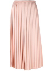Fendi Classic Pleated Skirt Women Acetate Viscose 38 Pink Purple