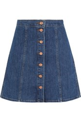 J.Crew Stretch Denim Mini Skirt Blue