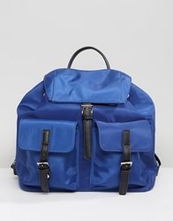 Qupid Multi Pocket Backpack Navy