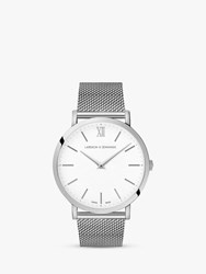 Larsson And Jennings Unisex Lugano Bracelet Strap Watch Silver White Ljxii140002