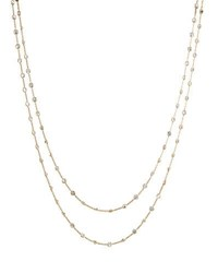 Diana M. Jewels 14K Yellow Gold By The Yard White Topaz Necklace 60 L