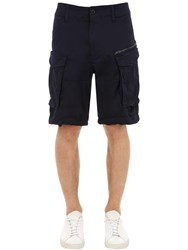 G Star Rovic Relaxed Cotton Twill Cargo Shorts Navy