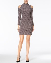 Bar Iii Cold Shoulder Bodycon Dress Only At Macy's Merlot Combo