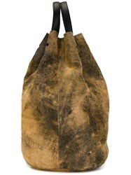 Golden Goose Deluxe Brand Distressed Backpack Nude And Neutrals
