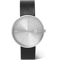 Uniform Wares M40 Precidrive Stainless Steel And Leather Watch Silver