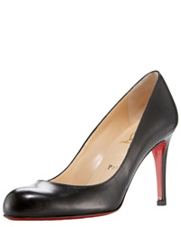 Christian Louboutin Simple Napa Leather Red Sole Pump Black