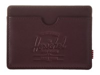 Herschel Charlie Leather Windsor Wine Textured Leather Wallet Handbags Brown