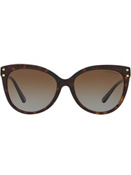 Michael Kors Collection Tinted Cat Eye Sunglasses Brown