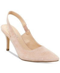 Nanette Lepore By Sally Slingback Pumps Only At Macy's Women's Shoes Dusty Pink Suede