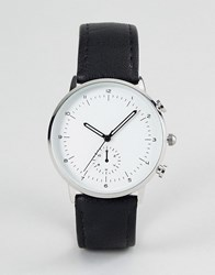 Burton Menswear Watch In Black Black