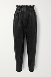 Iro Finhay Leather Tapered Pants Black