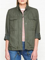 Jigsaw Linen Tencel Military Jacket Cactus Green