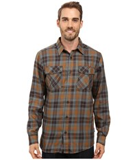 Mountain Hardwear Trekkin Flannel Long Sleeve Shirt Golden Brown Men's Long Sleeve Button Up