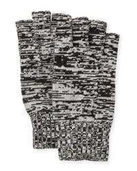 Portolano Marled Fingerless Gloves Black Latte